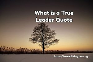 What is a True Leader Quote