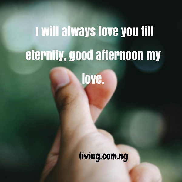 I Will Always Love You Till Eternity Good Afternoon My Love Living