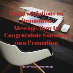 Congratulations on Promotion Message/How to Congratulate Someone on a Promotion