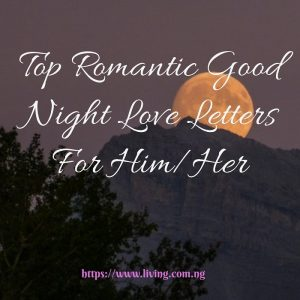Romantic Good Night Love Letters For Him/Her