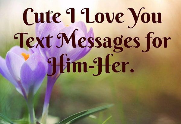 Cute I Love You Text Messages for Him-Her - Living