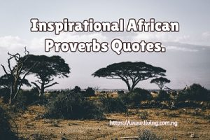 Inspirational African Proverbs Quotes