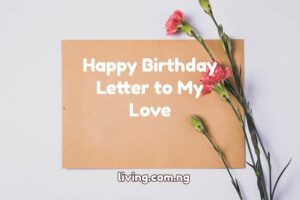 Happy Birthday Letter to My Love